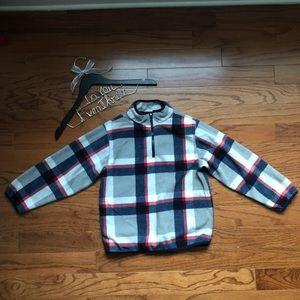 Gymboree M (7-8) half zip fleece pullover